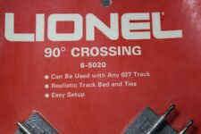 Lionel # 5020 , O/27 Gauge, 90° Crossing Track, Silver, NEW  (2075 S-2)