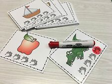Syllable Counting - Learning Center Kits - Laminated - Dry Erase Cards