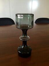 KAJ FRANCK KF245 SMOKEY GREY GLASS VASE VINTAGE WITH FOIL LABEL