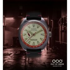 NEW OOO(OUT OF ORDER WATCH) Torpedine Red Limited Automatic Damaged In Italy