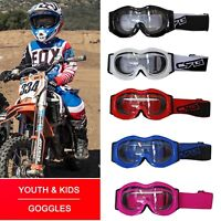 NEW Kids Goggles Motorcycle Motocross Racing ATV Dirt Bike Off Road Eyewear