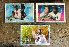 Michael Jordan 1996 Space Jam UD Dazzle Sparkle Refractor Sticker Lot of 3 RARE