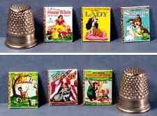 Dollhouse Miniature  1:12  Six Little Golden Books  1950s Disney Movies