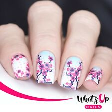 P077 Cherry Blossom Water Decals Sliders for Nail Art Design