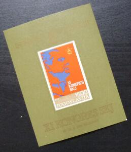 Yugoslavia Block MNH - League of Communists Congress Tito President A4