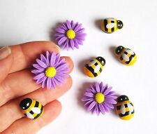 Daisy & bee fridge,memo,decor strong magnets.Set of 8. A little gift idea !
