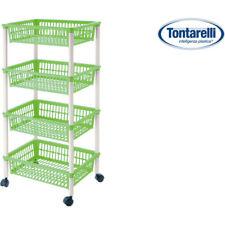 Carrito verdulero 4 cestos 40x85cm mito 4 verde / Tontarelli
