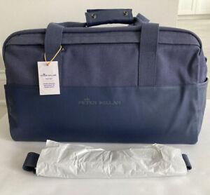 NWT Peter Millar Men's Crown Seal Sport Navy Duffle Bag AS19EA100 $198.00
