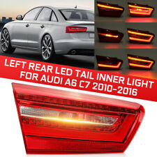 Left Rear LED Tail Inner Light Lamp Red ABS Yellow For Audi A6 C7 2010-2016