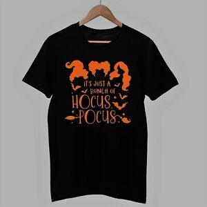 Halloween TShirt Hocus Pocus Tee It's Just A Bunch Of T Shirt Fancy Dress Scared