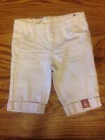 NWT ARIZONA JEANS  White Bermuda Shorts Girls Sz 5 Adjustable Waist