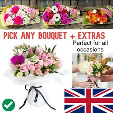 FRESH REAL FLOWERS Delivered UK Florist Choice Bouquet *Free Flower Delivery*