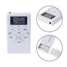 Portable Lcd Digital Display Mini Fm Radio Receiver W/ Neck Rope In-Ear Earphone