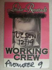 Linda Ronstadt Symphony Tour 1996 Dedicated To The One Cd Era Backstage Pass