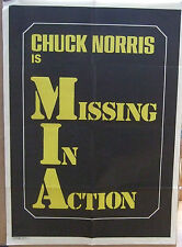 Chuck Norris MISSING IN ACTION(1984) Original movie promotional poster