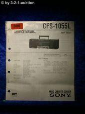 Sony Service Manual CFS 1055L Cassette Corder (#0390)