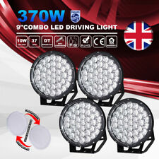 4X 9Inch 370W LED Driving Light Round Spotlights Offroad 4WD SUV 12V 24V Combo