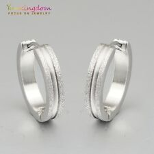 Birthday Gift Silver Color White Gold Plated Lady Ear Jewelry Hoop Earrings