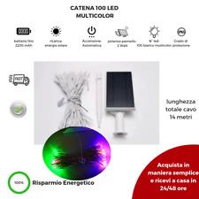 Luci di Natale ad Energia Solare 100 LED Multicolor