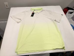 NWT $80.00 Under Armour Mens Golf Range Unlimited SS Polo White / Lime Sz 3XL