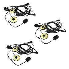 Hot 3Pcs 2Pin PTT MotorHelmet Headset Microphone for BAOFENG Retevis WOUXUN TYT