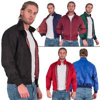 Mens Zipup Classic Trendy 1970s Retro Vintage Bomber Mod Coat Harrington Jacket