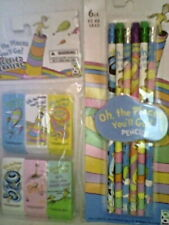 Dr Seuss Pencils & Erasers: Oh the places you'll go! (#2 Hb Beveled)