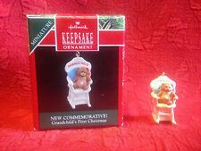 "1990 Hallmark Keepsake Minature Ornament ""Grandchild's 1st Christmas"" w/Box Euc"