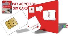 VODAFONE PAYGO SIM CARD Micro/Standard/Nano Fast Delivery