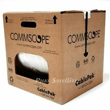 LOT of 2 1000' Commscope Coaxial Rg6 Cable White ETL UL Rated MADE IN USA
