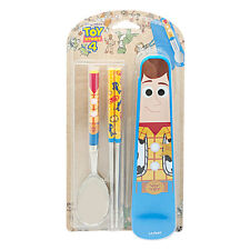 Toy Story Woody Spoon Chopsticks Case Set Cutlery Cute Utensils for Kids