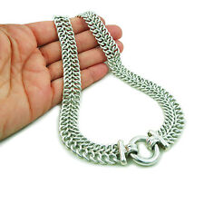 Heavy Chain Link 925 Sterling Taxco Silver Necklace