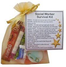 Social Worker Survival Kit Gift  - New job, Secret santa gift for colleague