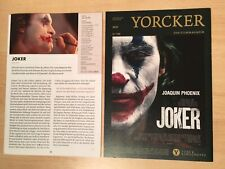 JOKER movie 2019 press kit JOAQUIN PHOENIX / NO poster BATMAN DC
