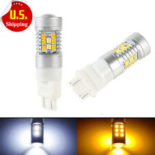 2-Pack High Power 3157 Dual-Color Switchback 28-SMD LED Turn Signal Bulbs New
