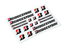 BRIDGESTONE STICKER SHEET Classic Retro Car Motorcycle Decals Stickers