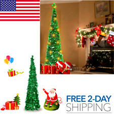 5ft Christmas Tinsel Tree Xmas with Stand for Indoor and Outdoor Holiday Display
