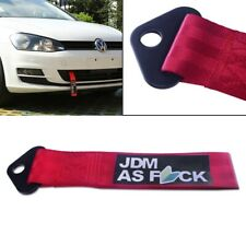 JDM AS FCK High Strength Bride Tow Strap for Front Rear Bumper Towing Hook-Red