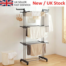 Foldable 3 Tier Clothes Airer Laundry Dryer Rack In/Outdoor Dry Rail Hanger SALE