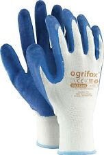 Protective GLOVES made of polyester and coated with LATEX