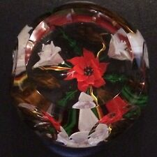 """Must See Caithness Poinsettia """"Fleur Rouge"""" Paperweight Artist's Proof"""