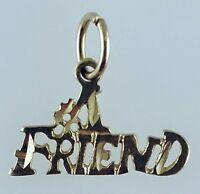 10k Solid Yellow Gold #1 Friend Charm Pendant
