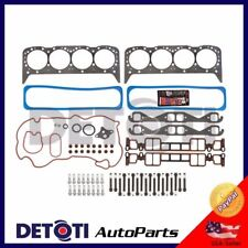 Head Gasket Set Bolts For 96-02 GMC Chevy Hummer Cadillac 5.7 V8 VORTEC Graphite