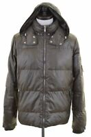 LEE Mens Padded Jacket Size 38 Medium Khaki Polyester  LL76