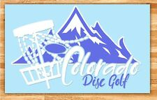 "6"" Colorado Disc Golf Vinyl Decal"