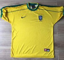 BRAZIL FOOTBALL SHIRT ORIGINAL NIKE HOME KIT 1998-2000 SIZE XL VGC
