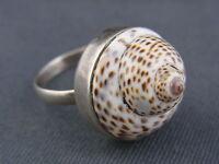 schöner alter Ring Silber 925/- 70er Jahre Schneckengehäuse