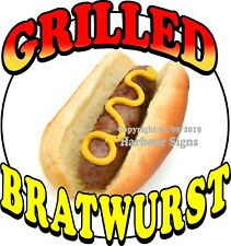 Grilled Bratwurst Decal (Choose Your Size) Food Truck Concession Sticker