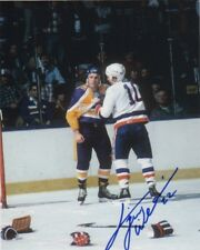 Los Angeles Kings Tiger Williams Signed Autographed 8x10 NHL Photo COA B