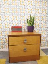 Vintage 1960's Stag Teak Bedside 2 Drawer Cabinet Mid Century Bedroom Retro MCM